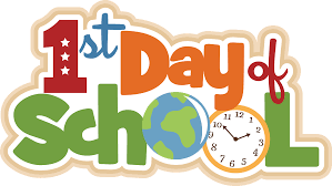 First day of school, August 23rd – Thursday