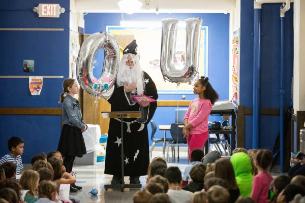 Q and U Tie the Know at Hubbell Elementary School